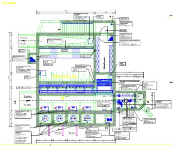 Abbildung 23 Technische Zeichnung Hochwasser Pumpwerk
